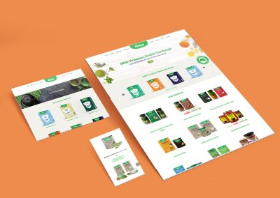 Kintra Foods Website Design