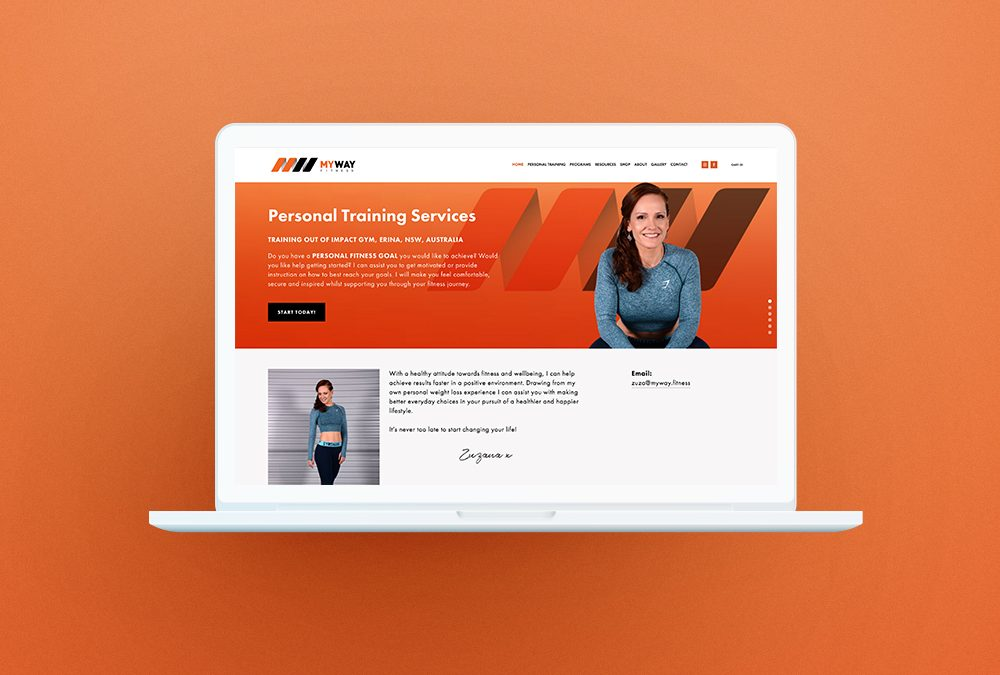 MyWay Fitness Squarespace Website and eBook Design