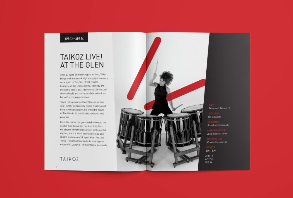 Glen Street Theatre Program Design