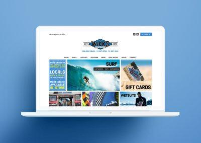 Wicks Online Store Design