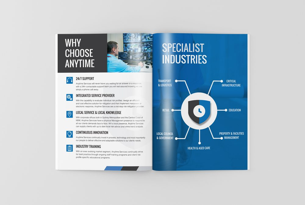 Anytime Services Brochure Design